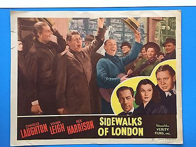 SIDEWALKS OF LONDON Lobby Card (VeryGood) 1940s ReRelease Vivien Leigh 8327