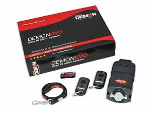 New Datatool Demon Evo Motorcycle Self Fit Security Alarm Including 2 x Key Fobs