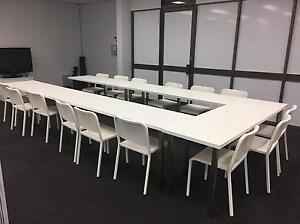 White Training Tables Trestle Newcastle East Newcastle Area Preview