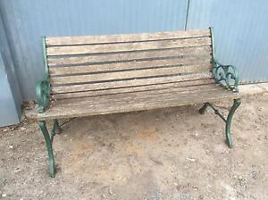 Timber and cast iron outdoor garden bench seat (vgc) Launceston Launceston Area Preview
