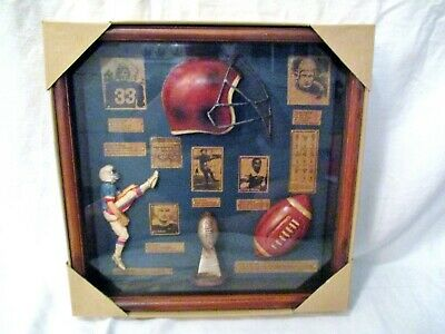 NEW FOOTBALL CLASSIC WOOD DISPLAY CASE HAND CRAFTED HOME & OFFICE DECOR