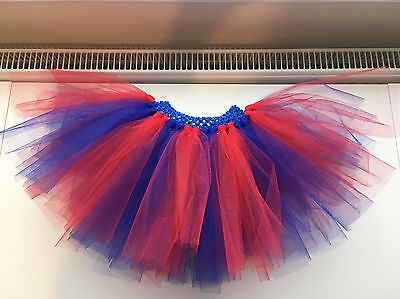 Blue and Red Spider-Man, Superman, Wonder Woman Tutu Skirt ANY SIZE ()