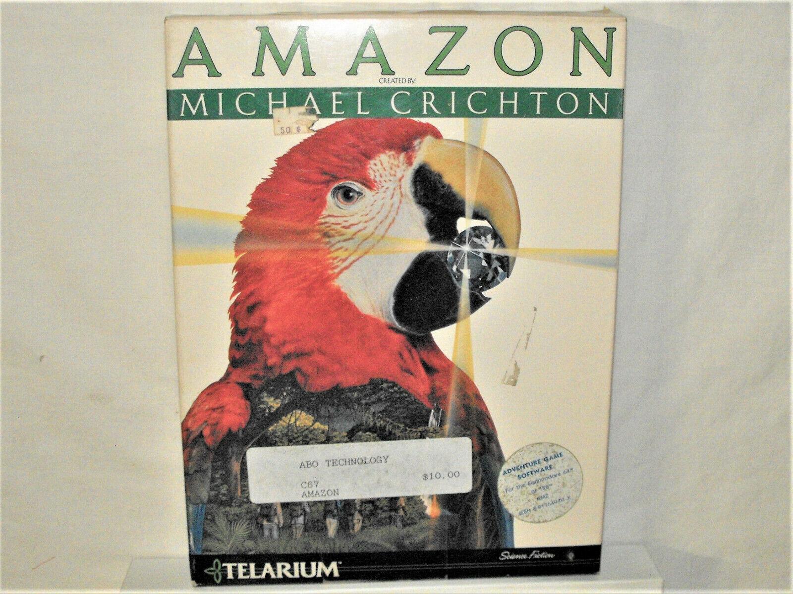 Computer Games - Commodore 64/128 PC Computer Game AMAZON Michael Crichton Telarium Sealed Box NR