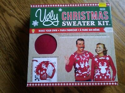 UGLY CHRISTMAS SWEATER KIT: Size L: Red Sweater NEW](Ugly Sweater Kits)