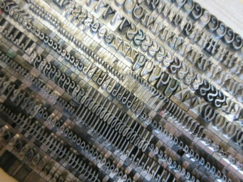Letterpress Lead Type 24 Pt. Keynote ATF # 579    a13