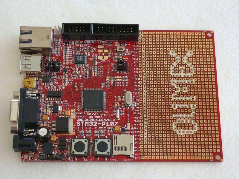 STM32 (ARM)  Prototype Board, USB, RS232, Ethernet, SD/MMC