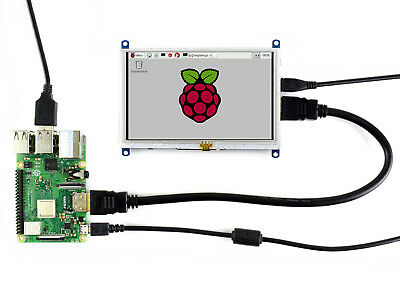 Waveshare 800480 5inch Tft Display Resistive Touch Screen Hdmi Lcd Raspberry Pi