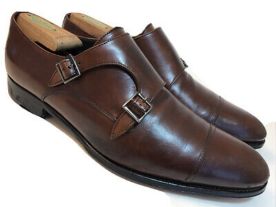 TO BOOT NEW YORK Adam Derrick Mens 10.5 Double Monk Strap Oxfords Brown Shoes