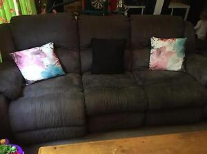 3 seater suede lounge Narara Gosford Area Preview