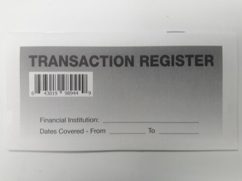 Checkbook Account Registers - 2021-22-23 - Transaction Bank Deposit Book Debit