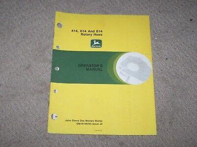 John Deere Used 414, 614, & 814 Rotary Hoes Operators Manual  B6