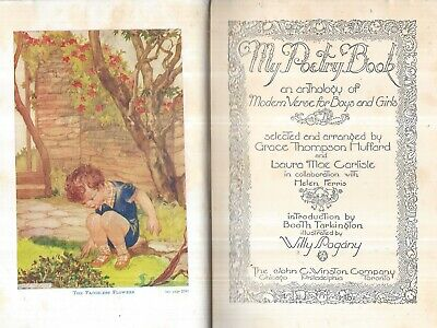 1934 POETRY 1ST ILLUSTRATED WITH COLOR PRINTS WILLY POGANY GEORGE MACDONALD GIFT