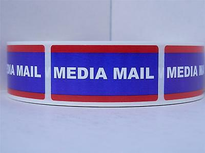 Media Mail Usps 1x2 Stickers Shipping Mailing Labels 500rl