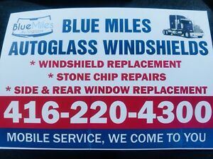 Trucks Windshield installation service.