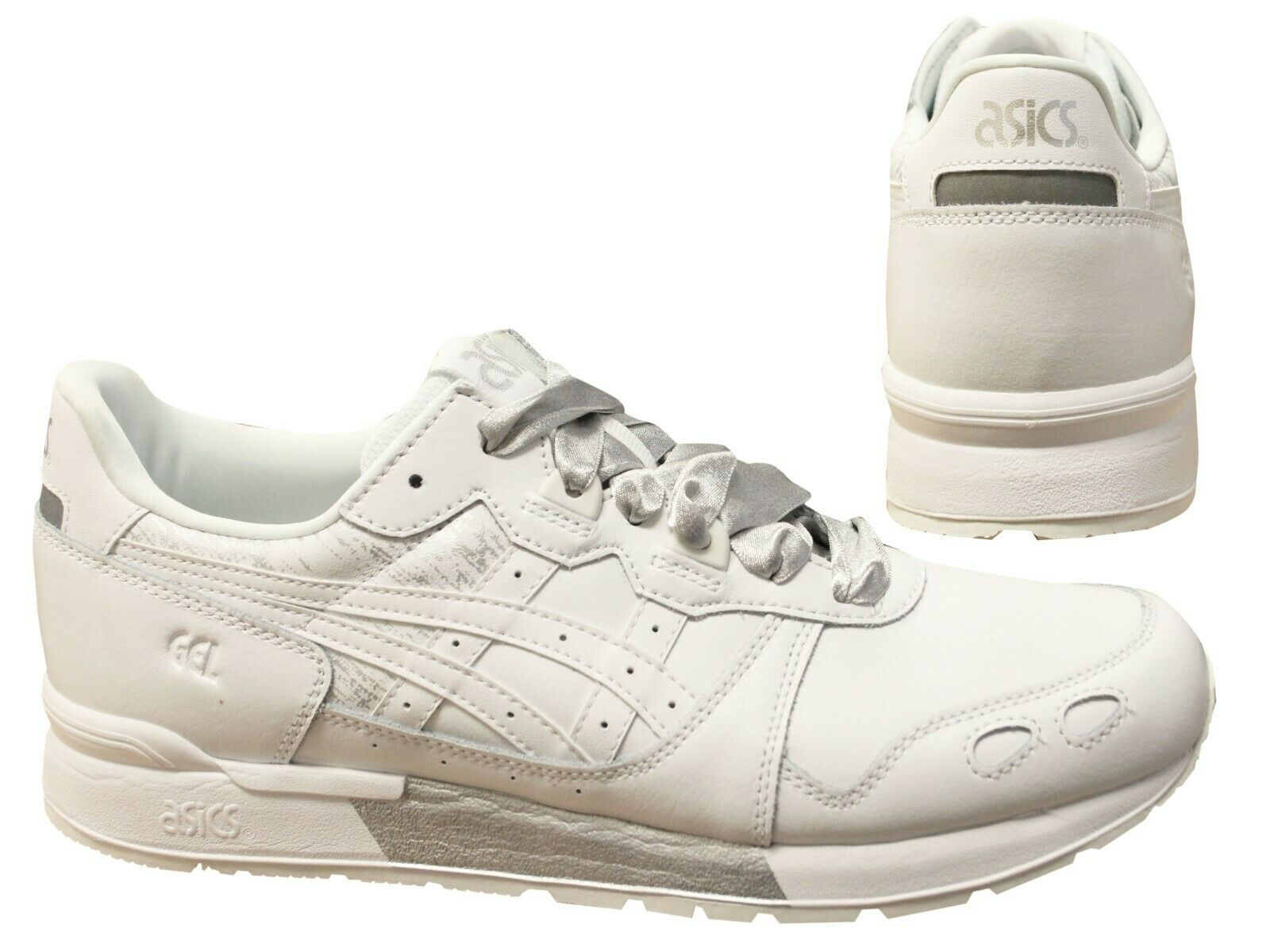 Details about Asics Tiger Gel-Lyte White Silver Lace Up Womens Trainers  1192A034 100 B91C