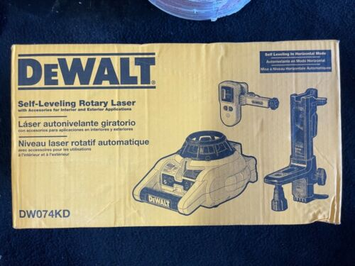 Dewalt DW074KD 150ft Red Self Leveling Rotary Laser with Detector, Clamp & Mount