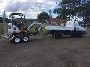 Mini excavator and tipper hire - dry or wet hire Forster Great Lakes Area Preview