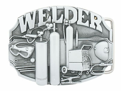 Welder Trade Tradesman Metal Belt Buckle