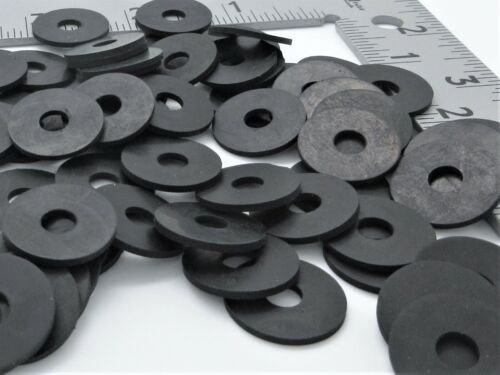 "1/4"" ID Oil Resistant Rubber Washers - 5/8"" OD. 1/8"" Thick. Various Pack Sizes"