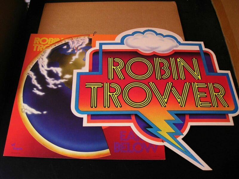 Robin Trower-For Earth Below-1975 Hanging PROMO Store Display-NEW IN BOX!