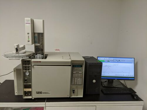 HP  5890 GC with (2) FID, (1) S/SL, (1) PP Autosampler, Computer/Software
