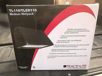 Trace Lite Tl110tled 110 Barron Compact Fluorescent Full Cutoff Med Wall Pack