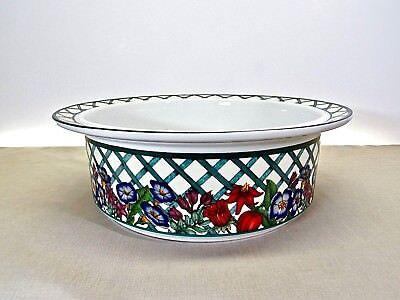 DANSK NORDIC GARDEN .. PORCELAIN 9 INCH ROUND SERVING/BAKING BOWL 9 Inch Round Porcelain