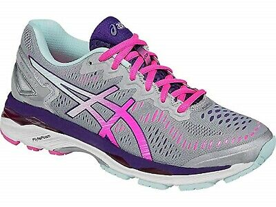 Asics Gel-Kayano 23 (2A) Women's Size 6 Narrow Width Running Shoes.Silver/Pink