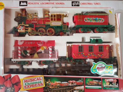 Vintage Christmas Songs 18 ft. Musical Christmas Express Train Set 1992 New