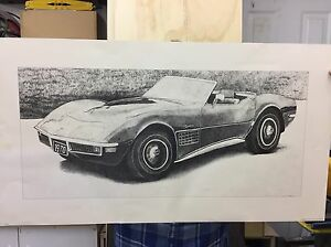 Gorgeous Print of 1970 Corvette