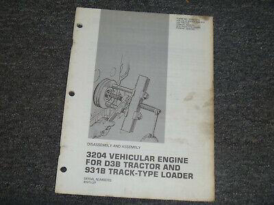 Cat Caterpillar 3204 Engine For 931b Loader Assembly Service Repair Manual 45v1-