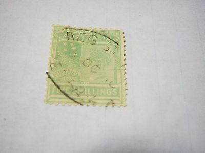 WESTERN AUSTRALIA-SCOTT #98- 5shilling-bluegreen-S.cross-wtmk13-cv$100