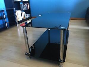 Glass coffee table and side matching side tables. Campbelltown Campbelltown Area Preview