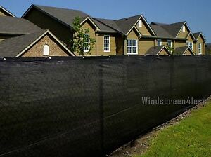 Black 6'x50' Privacy Screen Mesh Fence Cover Windscreen Fabric Patio