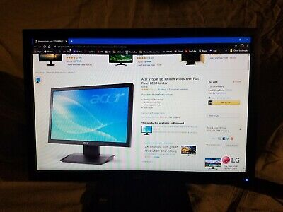 "LOT OF 3 AT THIS PRICE. Acer V193W LCD Monitor 19"" monitors"