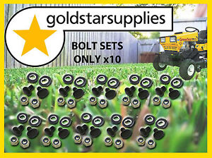 Greenfield-Ride-on-Mower-bolt-nut-washer-sets-x-10pr