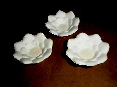 - Lot of 3 pretty Flowers  glass slump draping kiln molds