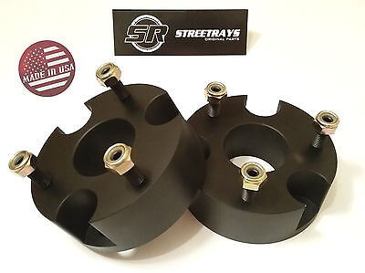 "StreetRays CNC Billet 2"" Front Leveling Lift Kit 06-18 Dodge RAM 1500 4WD BLACK"