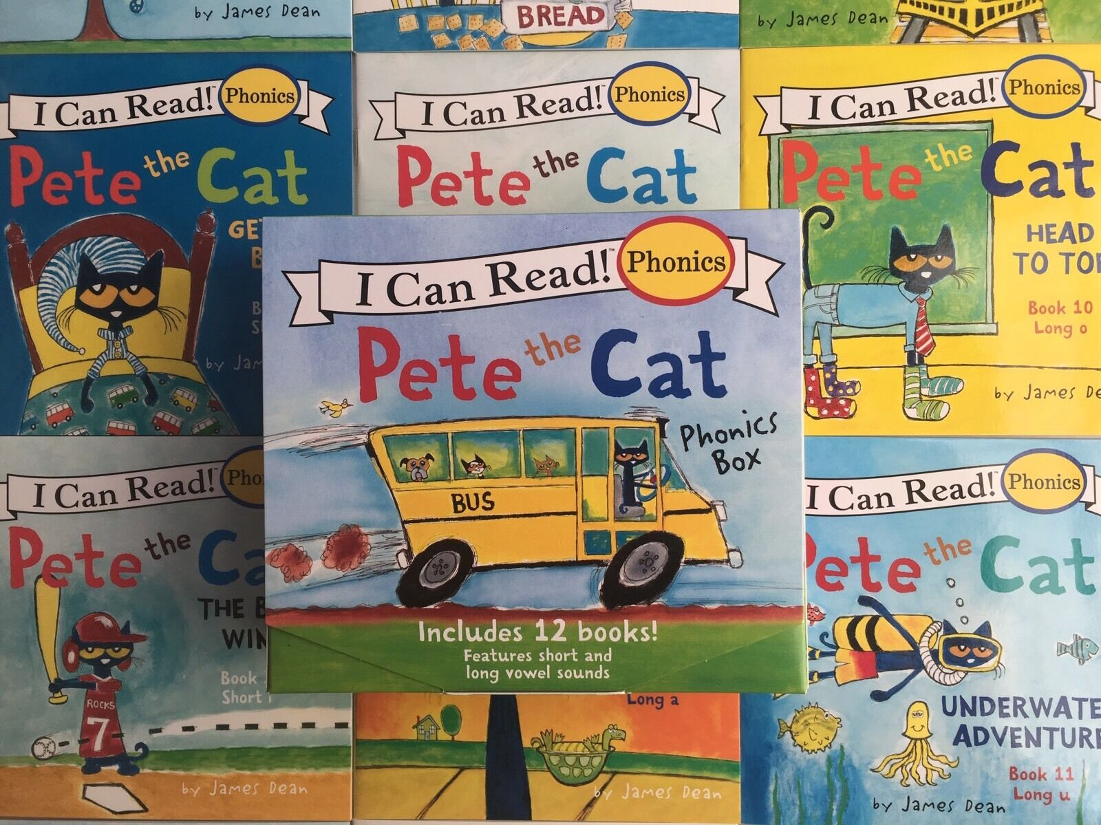 Pete the Cat Childrens Books Box Set I Can Read Phonics Learn to Read Lot 12