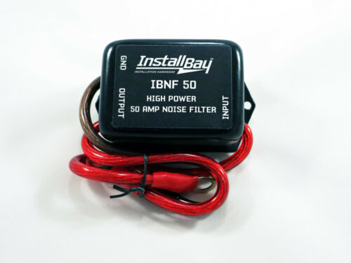 Install Bay 50 AMP In-Line Noise Filter for Car Stereo Ham CB Radio 12 Volt
