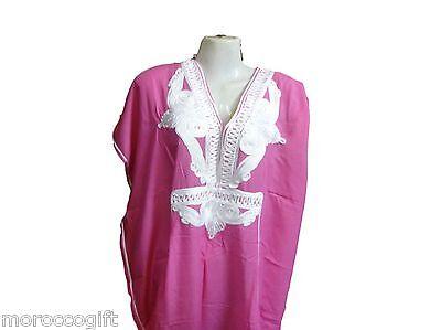 MOROCCAN ABAYA  PINK KAFTAN JILBAB  JELLABA  WOMEN DRESS CAFTAN for sale  USA