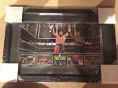 """WWE NXT Takeover """"The End"""" Commemorative Plaque Signed by Samoa Joe and Others"""