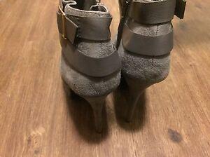 Justfab Grey Boot Heels