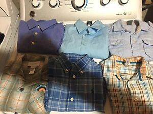 18 boys shirts diesel, Lacoste,polo,etc size 2-4