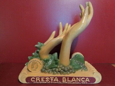 RARE VINTAGE ART DECO CRESTA BLANCA CO WINERY LIVERMORE CALF BOTTLE DISPLAY #0