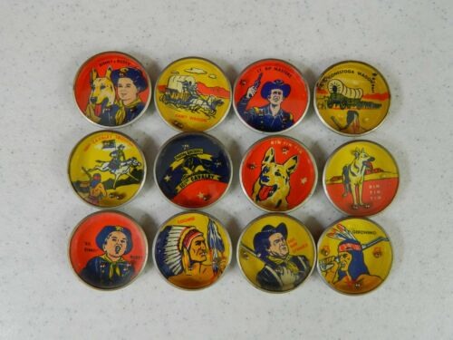 Complete Set of 12 Nabisco Rin Tin Tin Series Dexterity Puzzles