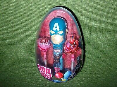 Flix Candy Pop ups Lollipop CAPTAIN AMERICA in EASTER EGG - Superhero Easter Eggs
