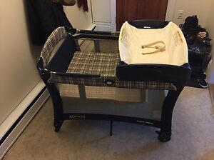 Playpen, bassinet, changing table in one
