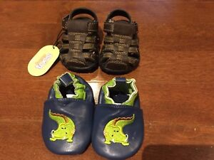 Baby shoes size 1 & 2 (6 pairs)