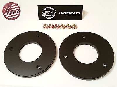 """StreetRays 04-19 Ford F150 1"""" Front Leveling Lift Kit 4WD 2WD Strut Spacer BLACK"""